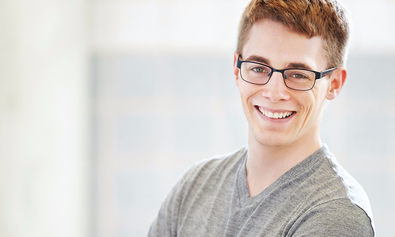 Young guy with glasses